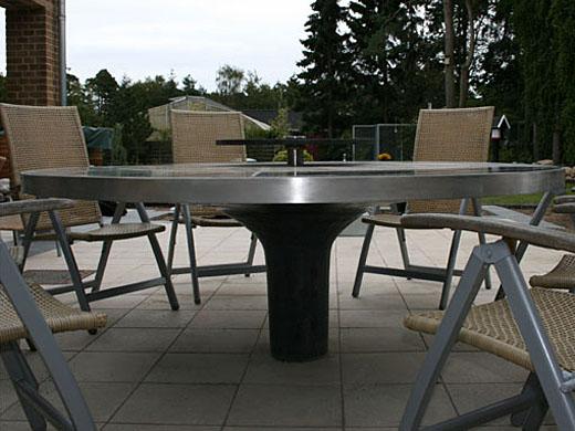 Wagner granit: elegant havebord i formstøbt beton og granit på ...